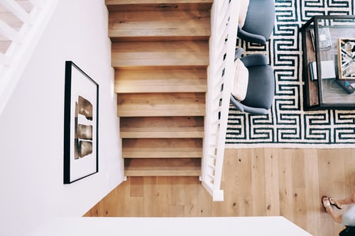 View of Wooden Floors and Wooden Stairs